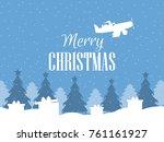 merry christmas. santa claus... | Shutterstock .eps vector #761161927