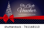 christmas and new year gift... | Shutterstock .eps vector #761168113