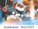 music band and musician on... | Shutterstock . vector #761171917