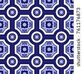 traditional ornate portuguese... | Shutterstock .eps vector #761176873