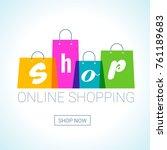 online shopping. shopping bags... | Shutterstock .eps vector #761189683
