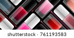 elegant colorful vector nail... | Shutterstock .eps vector #761193583