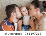 family  parenthood and people... | Shutterstock . vector #761197213