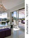 interiors shots of a modern... | Shutterstock . vector #761199097