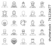 personification icons set.... | Shutterstock .eps vector #761216677