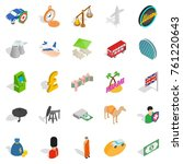auto icons set. isometric set... | Shutterstock .eps vector #761220643