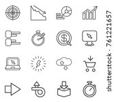 thin line icon set   target ... | Shutterstock .eps vector #761221657