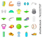 best athlete icons set. cartoon ... | Shutterstock .eps vector #761222737