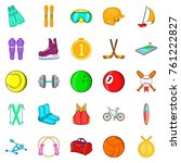 pro icons set. cartoon set of... | Shutterstock .eps vector #761222827