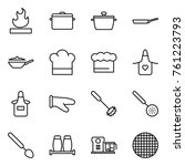 thin line icon set   flammable  ...   Shutterstock .eps vector #761223793