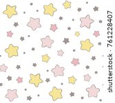 cute stars vector pattern. hand ... | Shutterstock .eps vector #761228407