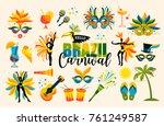 brazilian carnival. big set of...   Shutterstock .eps vector #761249587