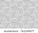 abstract geometric black and... | Shutterstock .eps vector #761249677