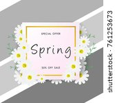 spring sale background with... | Shutterstock .eps vector #761253673