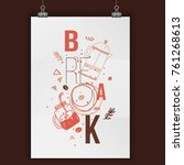 modern typography coffee poster ...   Shutterstock .eps vector #761268613