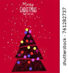 ceativ new year and christmas... | Shutterstock .eps vector #761282737