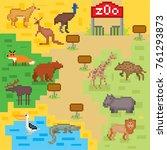 zoo infographics elements.... | Shutterstock .eps vector #761293873