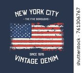 nyc the five boroughs t shirt...   Shutterstock .eps vector #761306767