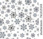 snowflakes seamless pattern....   Shutterstock .eps vector #761315143