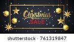 christmas sale banner template...   Shutterstock .eps vector #761319847