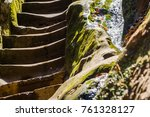 view of the streamlet along the ... | Shutterstock . vector #761328127