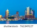 night view of the port of... | Shutterstock . vector #761349127