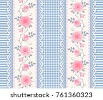 seamless pattern with branches... | Shutterstock .eps vector #761360323