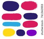 brush strokes set backgrounds.... | Shutterstock .eps vector #761362003