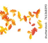 colored oak leaf abstract... | Shutterstock .eps vector #761368393