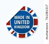 made in united kingdom of great ... | Shutterstock .eps vector #761381317