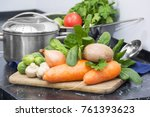 healthy eating. clean fresh...   Shutterstock . vector #761393623
