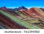 vinicunca  peru   rainbow... | Shutterstock . vector #761394583
