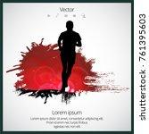 silhouette of marathon runner | Shutterstock .eps vector #761395603