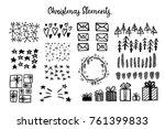 set of black hand drawn... | Shutterstock .eps vector #761399833