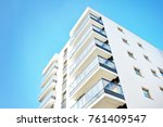 modern apartment buildings on a ...   Shutterstock . vector #761409547