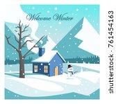 welcome winter vector design | Shutterstock .eps vector #761454163