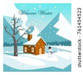 welcome winter vector design | Shutterstock .eps vector #761454523