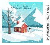 welcome winter vector design | Shutterstock .eps vector #761457073