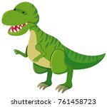 tyrannosaurus rex with sharp...   Shutterstock .eps vector #761458723