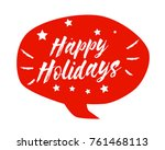 happy holidays  beautiful... | Shutterstock .eps vector #761468113