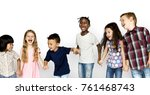 happiness group of cute and... | Shutterstock . vector #761468743