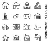 thin line icon set   home ... | Shutterstock .eps vector #761473183