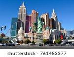 las vegas  nevada  united... | Shutterstock . vector #761483377