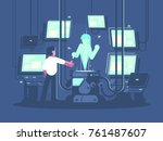 newest technologies of... | Shutterstock .eps vector #761487607
