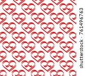 heart red on white seamless... | Shutterstock .eps vector #761496763