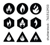 fire icon logo | Shutterstock .eps vector #761512933