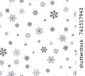 snowflakes seamless pattern.... | Shutterstock .eps vector #761517943