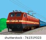 illustration of indian rail | Shutterstock .eps vector #761519323