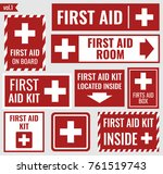 first aid set | Shutterstock .eps vector #761519743