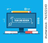 year end review vector concept  ... | Shutterstock .eps vector #761522143